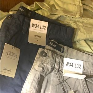 Two pair men's tapered denim pants W34 L32 NWT